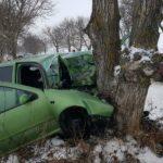 Foto: O șoferiță de 22 de ani a ajuns cu mașina într-un copac. Avea 100 km/h
