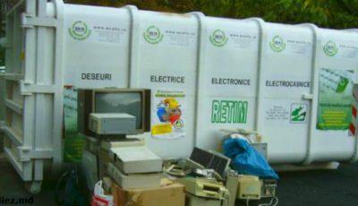 O veste bună! În capitală, vor apărea mai multe boxe de colectare a deșeurilor electronice și electrice