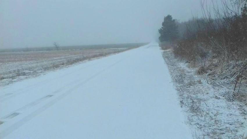 Foto: Ninge în cea mai mare parte a țării. Cum se circulă pe drumuri