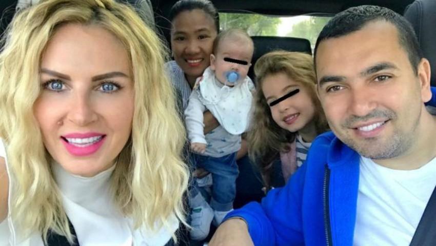 Foto: Atât de emoționant! Vezi cum s-a despărțit Andreea Bănică de bona copiilor săi