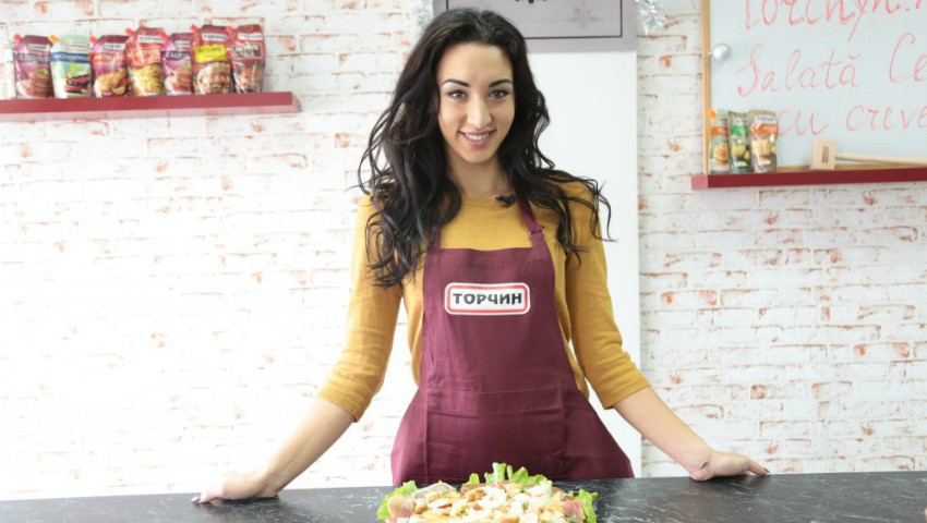 Foto: Online Cooking Show cu Natalia Duminică – Salată Cezar cu creveți