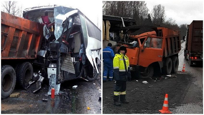 Foto: Ultima oră! Un autobuz cu moldoveni, implicat într-un grav accident în Rusia