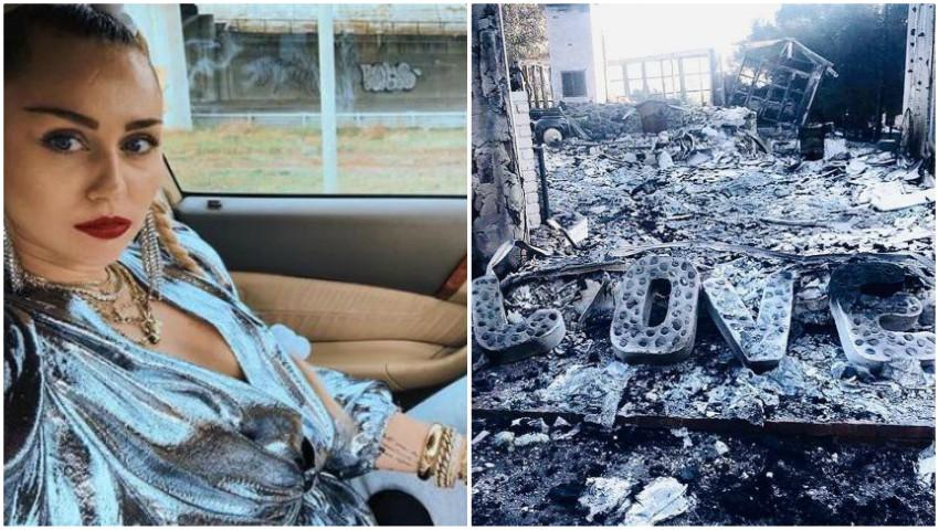 """Foto: Miley Cyrus, devastată: ,,Asta e tot ce a rămas din casa mea"""""""