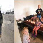 Foto: În Moldova, mai sunt copii care îi cer Moșului mâncare în loc de jucării