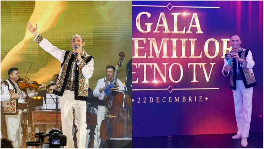 Ion Paladi a obținut Premiul pentru Cel mai popular artist din Moldova, la Gala Premiilor ETNO TV!