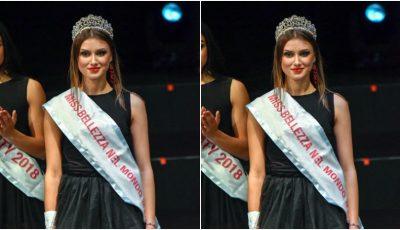 O moldoveancă a devenit câștigătoarea concursului internațional de frumusețe Miss Beauty In The World 2018, desfășurat în Italia