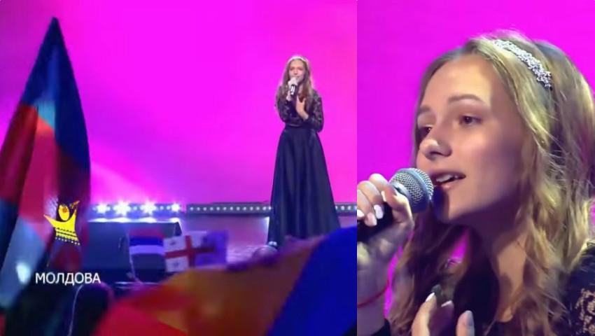 """Foto: Video! O moldoveancă de 16 ani este câștigătoarea show-ului muzical """"Во весь голос"""" din Rusia!"""