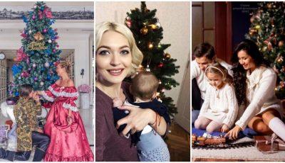 Vedetele au împodobit deja Bradul de Crăciun. Al cui e mai frumos?