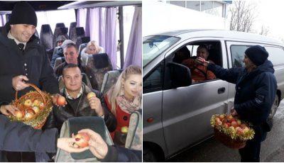 Surprize la vamă! Moldovenii care vin acasă de sărbători primesc în dar câte un măr