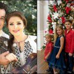 Foto: Ionuț Dolănescu a împodobit bradul în Miami, alături de soția moldoveancă și cei trei copii ai cuplului
