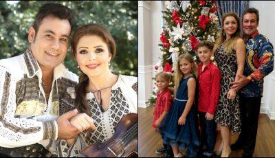 Ionuț Dolănescu a împodobit bradul în Miami, alături de soția moldoveancă și cei trei copii ai cuplului