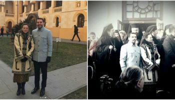 Fostul Principe Nicolae al României şi soţia sa au făcut senzaţie cu ținutele purtate la Alba Iulia