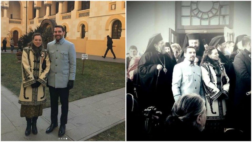 Foto: Fostul Principe Nicolae al României şi soţia sa au făcut senzaţie cu ținutele purtate la Alba Iulia
