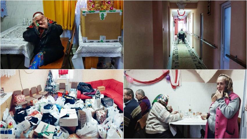 Foto: Emoții și lacrimi de bucurie! Cadourile colectate în cadrul campaniei inițiate de Viggo, au ajuns la bătrâneii din Micleușeni
