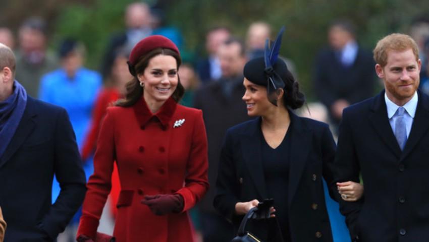 Foto: Kate Middleton şi Meghan Markle, la slujba tradițională de Crăciun. Ce ținute au purtat ducesele!