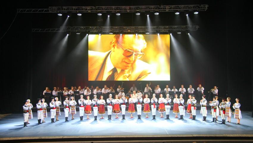 """În memoria lui Vladimir Curbet. Ansamblul """"Joc"""" a susținut un spectacol extraordinar la Palatul Național"""