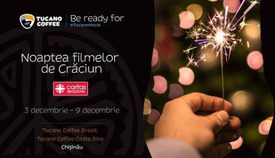 Caritas Moldova, în parteneriat cu Tucano Caffe, te invită la Noaptea Filmelor de Crăciun! Vino cu prietenii, iar donația ta poate aduce fericire unui copil