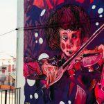 Foto: Foto. Un moldovean a realizat o pictură murală în Spania