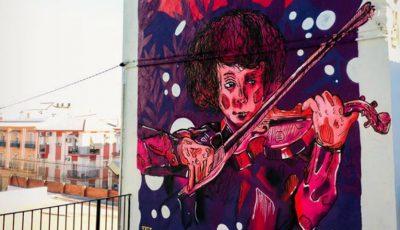 Foto. Un moldovean a realizat o pictură murală în Spania