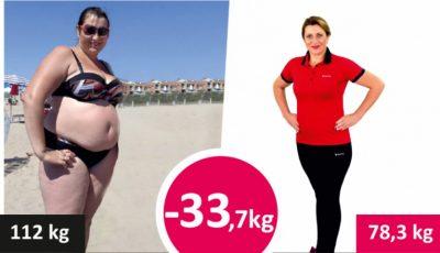 A reușit să slăbească 34 de kilograme timp de câteva luni