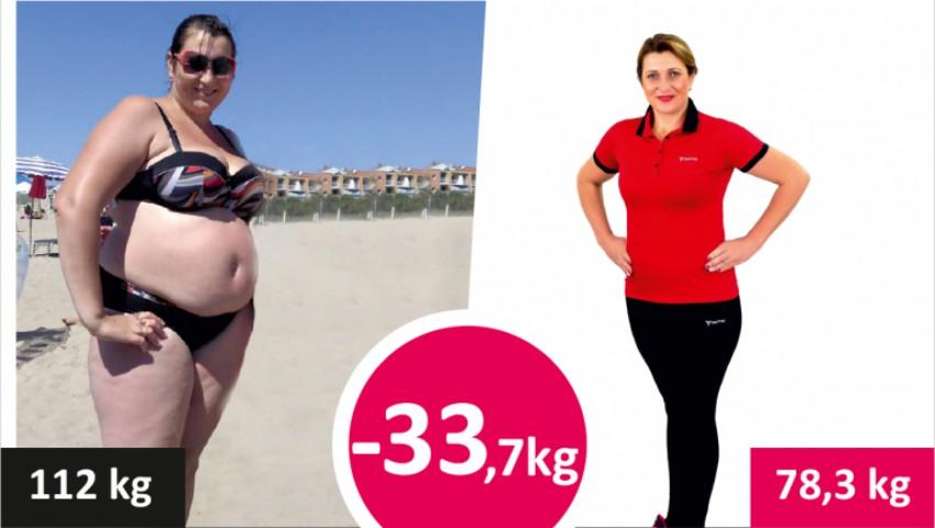 Foto: A reușit să slăbească 34 de kilograme timp de câteva luni