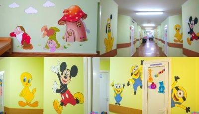 Spitalul Clinic Municipal Pentru copii nr. 1 a prins viață și culoare, grație eroilor din desene animate!