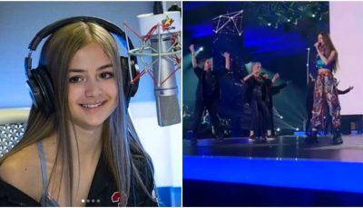 Iuliana Beregoi a făcut show la prima semifinală Eurovision România