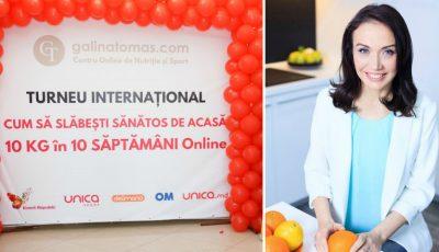 """Turneul Internațional cu Galina Tomaș: """"Cum poți slăbi de acasă 10 kg în 10 săptămâni"""" trece granița! De această dată ești așteptat în Italia, la Roma"""