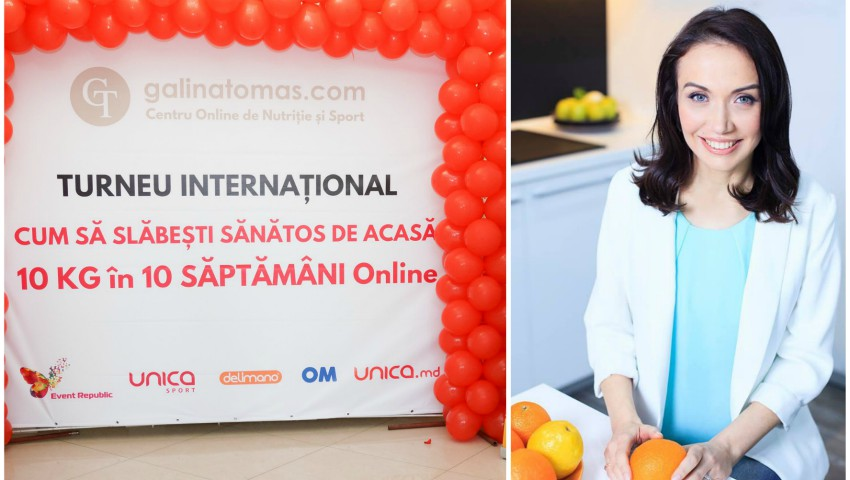 """Foto: Turneul Internațional cu Galina Tomaș: """"Cum poți slăbi de acasă 10 kg în 10 săptămâni"""" trece granița! De această dată ești așteptat în Italia, la Roma"""