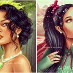 Foto: O artistă din Rusia pictează celebrități care seamănă izbitor cu personaje din desene animate