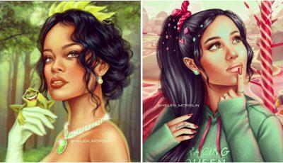 O artistă din Rusia pictează celebrități care seamănă izbitor cu personaje din desene animate