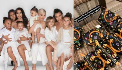 Kim Kardashian a cumpărat genți Louis Vuitton pentru toate bebelușele din familie. Cât a cheltuit?