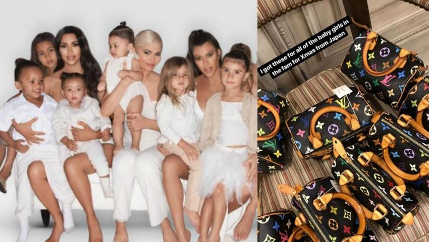 Foto: Kim Kardashian a cumpărat genți Louis Vuitton pentru toate bebelușele din familie. Cât a cheltuit?
