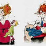 Foto: Meseria de mamă, în 20 de ilustrații sincere și amuzante realizate de către o pictoriță franceză