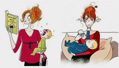 Meseria de mamă, în 20 de ilustrații sincere și amuzante realizate de către o pictoriță franceză