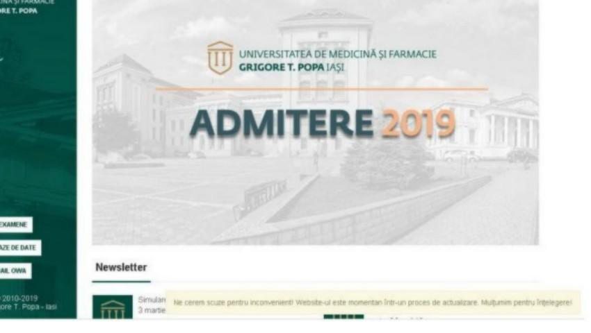 Foto: Universitatea de Medicină din Iași, atacată de hackeri. S-a cerut recompensă de sute de mii de euro