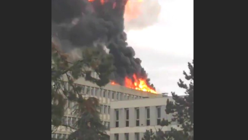 Foto: Explozie masivă la o universitate din Franța. Sunt răniți