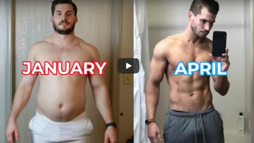 Foto: Transformarea incredibilă a unui tânăr, în doar 3 luni! A slăbit 24 de kg și a devenit de nerecunoscut