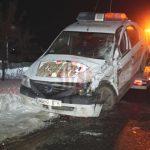 Foto: Un moldovean a făcut zob o mașină a Poliției din România