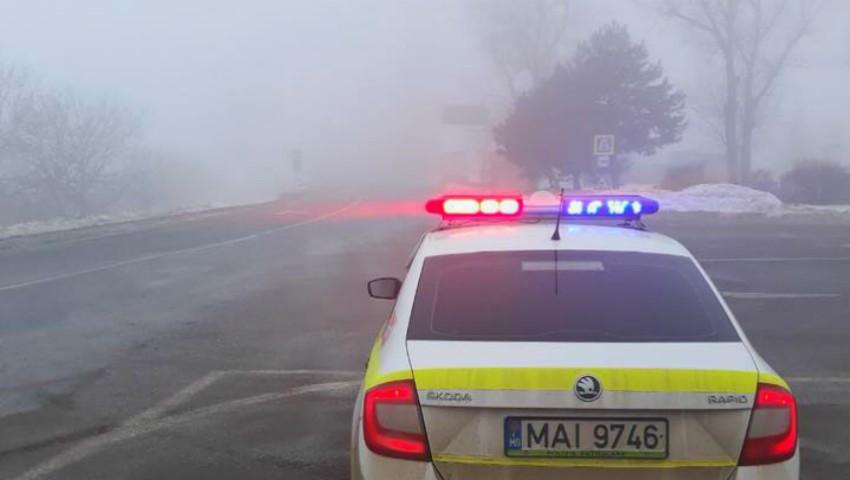 Foto: Cod galben de ceață: recomandările INP pentru șoferi