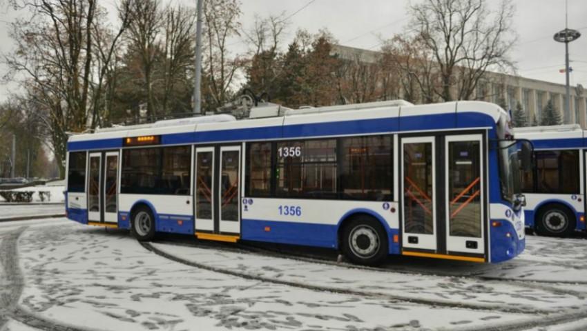 Foto: Ruta de troleibuz nr. 35 își modifică traseul de circulație