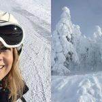 Foto: Este însărcinată și a urcat în vârful muntelui! Vedeta din România se distrează pe pârtie