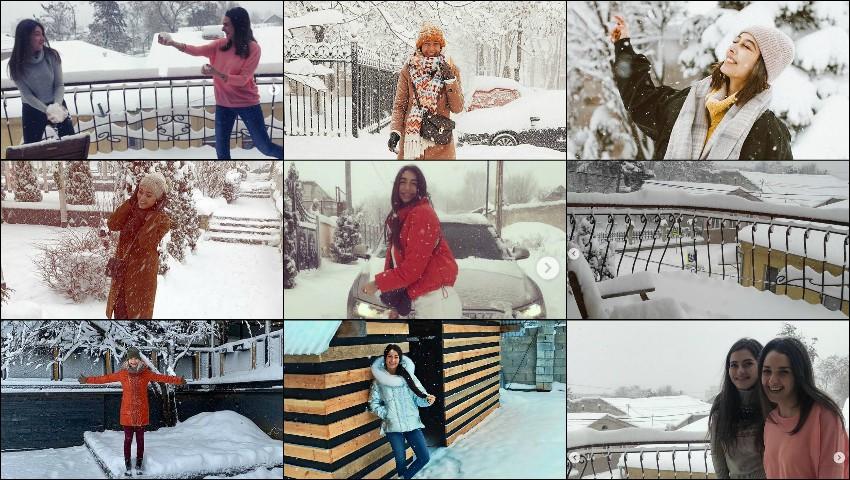 Foto: Vedetele au dat busna în zăpada albă și pufoasă! Uite cum se distrează