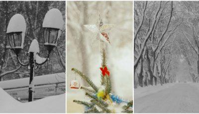Chișinăul, în miez de iarnă! Imagini inedite realizate de fotograful Petru Cliofos