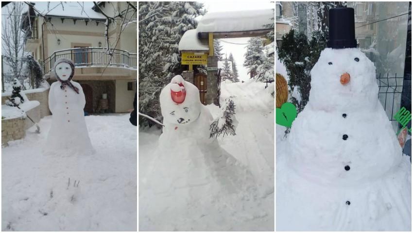 Foto: Foto! Imagini cu primii oameni de zăpadă au apărut pe rețelele de socializare