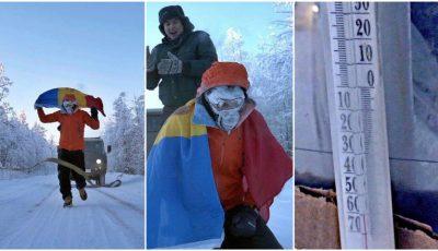 Misiune îndeplinită! Dmitri Voloșin a alergat 50 km la temperatura de -60°C, în cel mai rece loc de pe planetă
