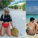 Foto: Daniela Ciocanu a avut parte de o surpriză deosebită în Maldive! Iată cu cine s-a întâlnit