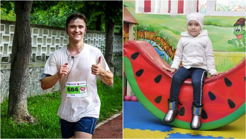 Foto: Un student la medicină va alerga 200 de km pentru a ajuta o fetiță bolnavă de cancer
