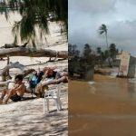 Foto: Sute de turişti, blocaţi pe insule din Thailanda din cauza furtunii tropicale Pabuk