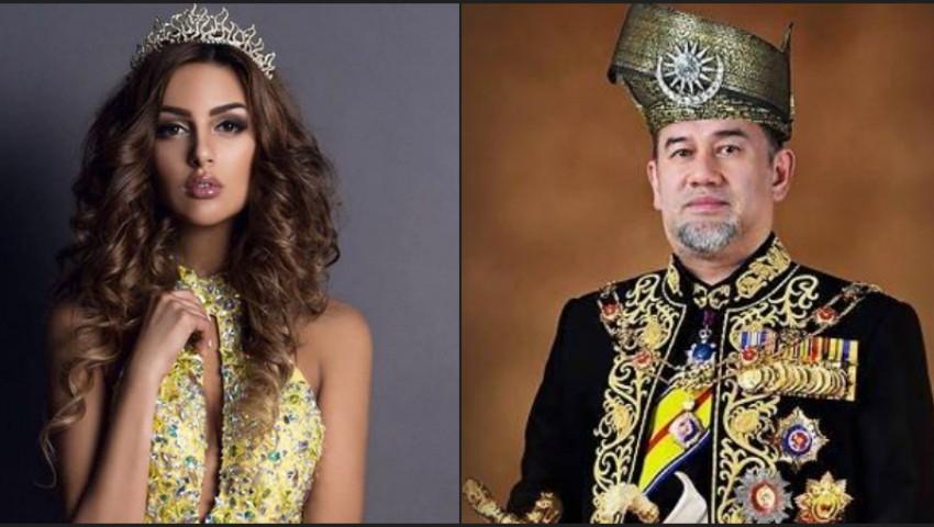 Foto: Regele Malaeziei, care s-a căsătorit cu Miss Moscova 2015, a abdicat de la tron